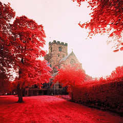 Carlisle Cathedral (Mark Rowell) Tags: carlisle cathedral cumbria uk ir eir aerochrome infrared expired 6x6 120 mediumformat hasselblad 903 swc film
