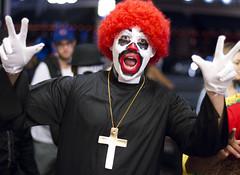 Evil Clown (San Diego Shooter) Tags: halloween halloweencostumes cosplay halloween2016 2016halloweencostumes sandiego portrait bokeh streetphotography downtownsandiego sandiegohalloween sexyhalloweencostumes sexyhalloweencostumes2016