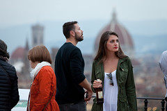 Evening drinks, Florence (Mikey Down Under) Tags: florence italy firenze tuscany piazzale michelangelo love couple young lovers drink bottle sunset evening beautiful italian woman sunglasses attractive lipstick lookout beer alcohol