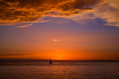 Sunrise in Milazzo, Cirucco Village (Antonio Cinotti ) Tags: sunrise dawn nikond7100 nikon d7100 sicilia cirucco ciruccovillage sea seascape alba sailboat clouds milazzo sicily italia italy
