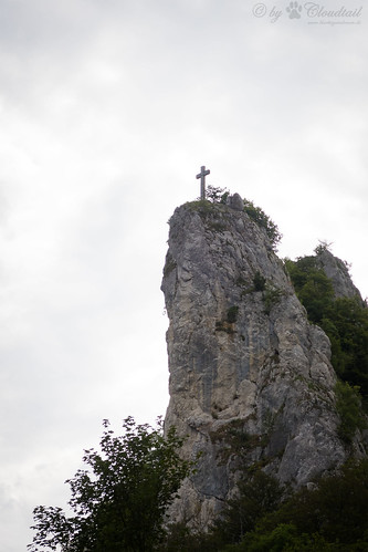 Rock with a cross on it