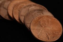 Penny Lane (lenswrangler) Tags: lenswrangler macromondays beatles penny pennylane macro coin pun blackbackground lincoln abrahamlincoln liberty 2016 copper zinc metal president