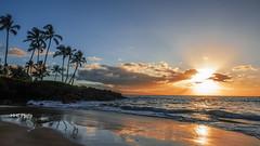 Sunset on Wailea Beach, Maui (HelenC2008) Tags: sunset maui hawaii wailea beach nikon d810