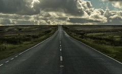 I'll Follow the sun (Martyn.A.Smith) Tags: colour clouds road tarmac moors roadmarkings canon 500d yorkshire