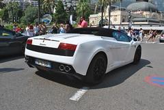 Lamborghini Gallardo LP560-4 Spyder (D's Carspotting) Tags: lamborghini gallardo lp5604 spyder monaco white 20130726 dw973be