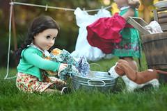Washday (5hens) Tags: summer girl jack 50mm day grace wash american gypsie washday 5hens 5hensandahowardbird 5hensandacockatiel