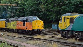 Colas Rail Freight 37219 rests with a Network Rail Test Train, at Ipswich HS, next to Freightliner 90049. 12 08 2015