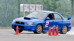 Screamin' Subie gripping the pavement 1 (R.A. Killmer) Tags: race speed drive smoke slide tires subaru autocross sti racer drift horsepower skill scca worldcars