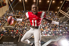 Super Six 2015 - Kyle Davis (Kyle Hess Photography) Tags: school atlanta portrait college sports wall kyle grid photography hall football high nikon downtown angle top atl alien extreme helmet wide fame super bee tokina f tigers 28 20 archer nikkor davis alienbee six receiver f28 degree hess recruit sportrait b800 ab800 octabox d3s 1628mm