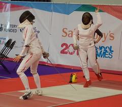 Slater v Edwards WE DSC_9782 (Plashing Vole) Tags: fencing edwards epee slater 2015 schoolgames