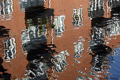 Brindley ripples (Row 17) Tags: city uk greatbritain england urban abstract reflection reflections canal birmingham unitedkingdom canals gb ripples abstracts westmidlands waterway birminghamuk waterways