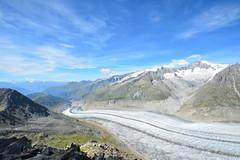 The Aletsch glacier panorama II. (Azariel01) Tags: panorama mountain alps montagne alpes schweiz switzerland view suisse glacier summit vue valais aletsch sommet 2015 crevasses crevices eggishorn driest driestgletscher aletscharena