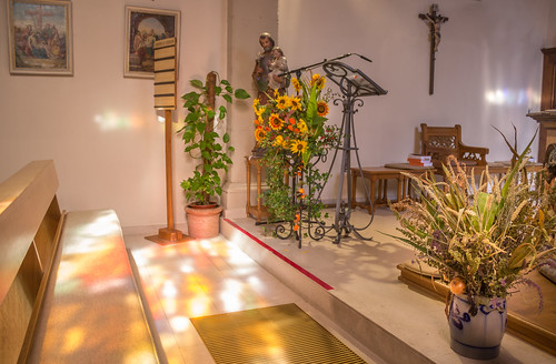 Late summer light in the church