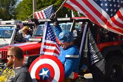 All the America (radargeek) Tags: oklahoma jeep flag parade american mustang ok captainamerica 2015 mustangwesterndaysparade