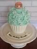 Gluten-free giant cupcake (ldeandyment) Tags: cake starfish pearls swirl clamshell glutenfree cakedecorating