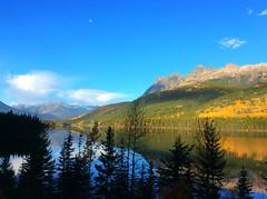 Mount Robson Provincial Park (peggyhr) Tags: autumn trees moon lake mountains peggyhr