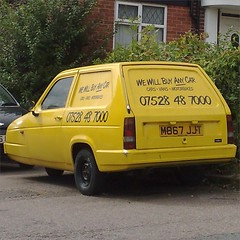 (uk_senator) Tags: horses robin yellow only van 1994 fools rialto reliant