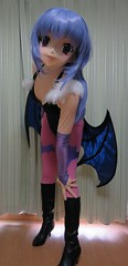 Morrigan(Darkstalkers) Kigurumi cosplay (rena_192838) Tags: fetish cosplay crossdressing spandex lycra leotard コスプレ 着ぐるみ kigurumi
