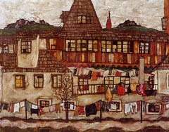 schiele_house_with_drying_laundry_1917 (Art Gallery ErgsArt) Tags: museum painting studio poster artwork gallery artgallery fineart paintings galleries virtual artists artmuseum oilpaintings pictureoftheday masterpiece artworks arthistory artexhibition oiloncanvas famousart canvaspainting galleryofart famousartists artmovement virtualgallery paintingsanddrawings bestoftheday artworkspaintings popularpainters paintingsofpaintings aboutpaintings famouspaintingartists