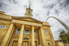 Church and Arch (Kansas Poetry (Patrick)) Tags: st louis arch stlouis missouri stlouisbasilica patrickemerson ianemerson