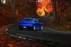 The Winding Road. (Andrew Barshinger Photography) Tags: fall car canon woods colorful evolution f2 lancer mitsubishi evo 6d 135l carporn