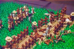 Pickett's charge, Gettysburg 1863 (SEdmison) Tags: california lego military union confederate gettysburg civilwar convention santaclara pickettscharge bricksbythebay bricksbythebay2015