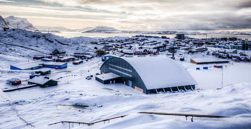 Nuuk Covered in Snow