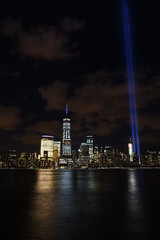 9-11 Tribute In Light 09 (Amaury Laporte) Tags: newyorkcity favorite usa newyork unitedstates 911 landmarks northamerica tributeinlight memorials september11memorial favorite2015