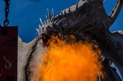Gringotts Dragon (Kevin MG) Tags: usa fire orlando dragon harrypotter fantasy amusementpark fl universalstudios hogsmead