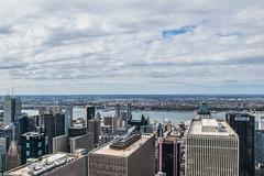 Roofs, NYC (Marek Lubas) Tags: nyc newyork manhattan roofs gebuilding thetopoftherock