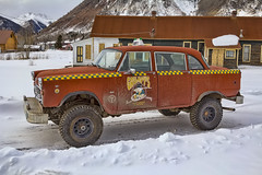 Grumpy's Taxi - Silverton, CO (Dave Toussaint (www.photographersnature.com)) Tags: travel usa nature photoshop canon landscape photo interestingness google interesting colorado raw photographer image silverton taxi scenic picture clarity september explore cc adobe co getty adjust 2015 denoise topazlabs grandimperialhotel photographersnaturecom davetoussaint 5dmarkiii creativecloud httpwwwgrandimperialhotelcom grumpystaxi sanjuamskyway