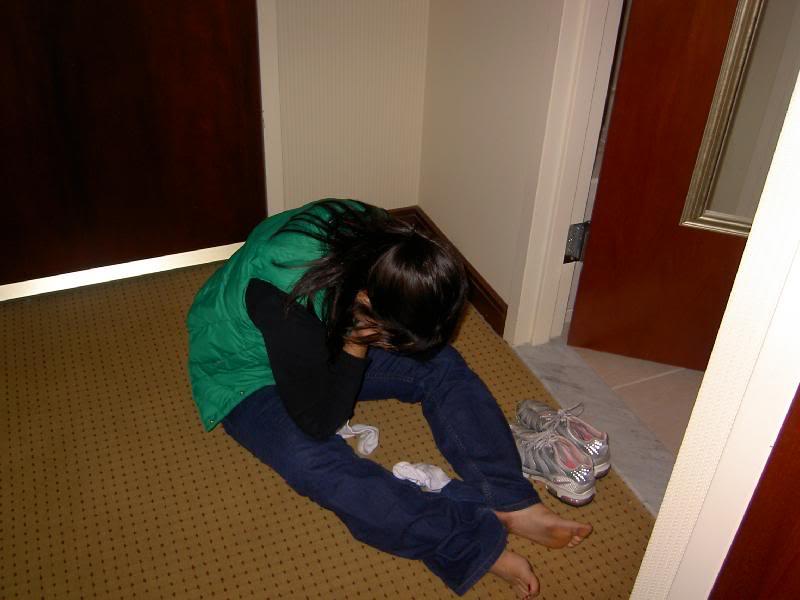 Teen girl doing drunk girl — 14