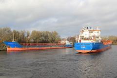 Jevenau & Fehn Capella (North Ports) Tags: 2 port manchester canal ship ships fehn locks passing peel trafford salford ports msc eccles capella irlam cadishead mmsi jevenau 305059000 305094000