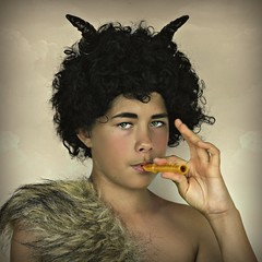 Satyr 2 (Portrait Central) Tags: lighting boy portrait playing black clouds canon pose hair studio fur greek photography eos photo costume photographer mr god cosplay roman afro central young horns posed posing goat australia flute professional musical curly photograph narnia instrument backdrop pan hybrid mythology satyr whistle faun tumnus 550d