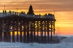 -20151208PB Sunset40 (Laurie2123) Tags: sunset yellow waves sandiego crystalpier pacficbeach cmwd cmwdyellow laurieturner nikkor28300mm laurie2123 nikond800e laurieturnerphotography