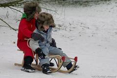 Winter (Natali Antonovich) Tags: christmas winter portrait snow frost mood belgium belgique belgie sled sleding sledging lahulpe christmasholidays