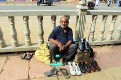 Modest (bluelotus92) Tags: people india streets karnataka mysore cobbler mysuru devarajursmarket devarajaursmarket