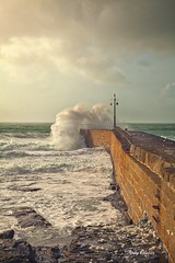 Porthleven Harbour storm (andyg1962) Tags: sea storm canon eos coast cornwall waves tide 5d porthleven