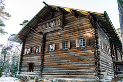 Pertinotsa (Jori Samonen) Tags: pertinotsa house building wooden log tree winter snow seurasaari island outdoor openair museum helsinki finland nikon d3200 180550 mm f3556 nikond3200 180550mmf3556