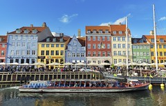 The first impression of Copenhagen (yuanxizhou) Tags: summer europe lifestyle scenery restaurant historic beautiful color cloud sky copenhagen denmark experience explore travel tourist attraction boat river canal waterfront nyhavn