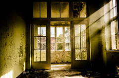 Empty (--Conrad-N--) Tags: go2know hospital hohenlychen abandoned a7rm2 lost place window light beams decay buildings old