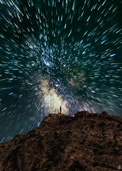 New Vision (Mahmood Alsawaf) Tags: iraq mahmoodalsawaf photography landscapes fineart night milkway nightphotography nightscape stars zoom startrials manipulation mountains longexposure sky