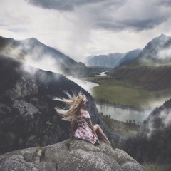 *** (Anastasia Kosh) Tags: free freedom wind clouds mountains altai river hair valley