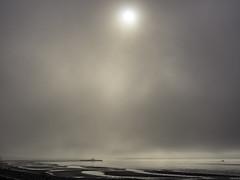 Struggling sun (Tony Tomlin) Tags: whiterockbc whiterockbeach whiterockpier pier fog mist britishcolumbia canada saltwater ocean southsurrey