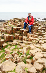 Portrait at Giant`s Causeway - Northern Ireland (renata_souza_e_souza) Tags: ireland september 2016 trip travel giants causewaynorthern irelandukgeologyrock formations basalt beach men portrait holidays vacation