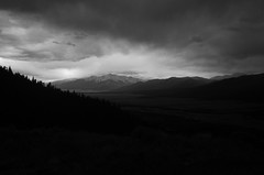 Down Valley (-mtnoxx-) Tags: mountprinceton collegiatepeaks sawatchrange rockymountains blackandwhite landscape dramatic