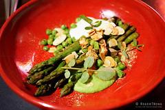 20161014-10-Asparagus, peas, sheep yoghurt and almonds at Hearth in Hobart (Roger T Wong) Tags: 2016 australia hobart iv metabones rogertwong sigma50macro sigma50mmf28exdgmacro smartadapter sonya7ii sonyalpha7ii sonyilce7m2 tasmania almonds asparagus dinner food hearth peas sheepyoghurt