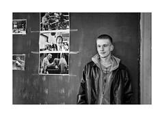 Be strong as Rocky - my polio is the past (Jan Dobrovsky) Tags: bw bohemia boxing countrylife countryside document gym gypsies indoor leicaq monochrome northern people roma village mikulášovice krásná lípa polio