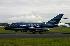 G-FFRA Falcon 20 Cobham (Ayrshire Aviation Images) Tags: dassault cobham prestwickairport falcon20 bizjet military jet aviation aircraft airplane