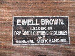 Ewell Brown Building Sign Lake Park GA (POsrUs) Tags: ©lancetaylor posrus lowndescounty georgia lakepark